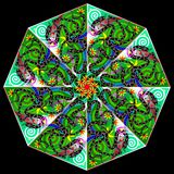 Λατινοαμερικάνικη διακόσμηση φαντασίας που γίνεται στο kaleidoscopic ύφος Στοκ Εικόνες