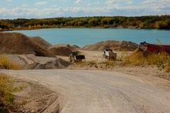 λατομείο αμμοχάλικου Στοκ εικόνα με δικαίωμα ελεύθερης χρήσης