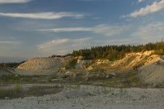 Λατομείο θερινής εγκαταλειμμένο τοπίο άμμου Στοκ Εικόνες