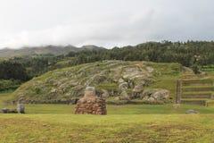 Λατομείο πετρών Sacsayhuaman καταστροφών Inca Στοκ Φωτογραφίες