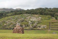 Λατομείο πετρών Sacsayhuaman καταστροφών Inca Στοκ φωτογραφία με δικαίωμα ελεύθερης χρήσης