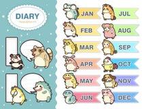 Λατρευτά ζωικά zodiac υπομνήματα καθορισμένα ελεύθερη απεικόνιση δικαιώματος