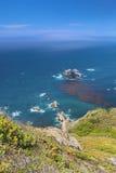 Λατρευτή άποψη ακτή σε μεγάλο Sur, Καλιφόρνια, Ηνωμένες Πολιτείες Στοκ Εικόνα
