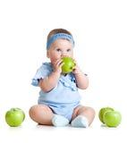 λατρευτή συνεδρίαση κατσικιών μήλων φρέσκια πράσινη Στοκ φωτογραφία με δικαίωμα ελεύθερης χρήσης