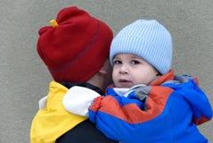 λατρευτός γιος οικογενειακών πατέρων Στοκ Φωτογραφίες