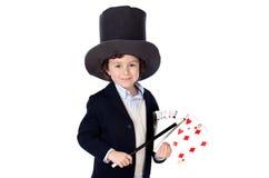 λατρευτός θαυματοποιός καπέλων φορεμάτων παιδιών Στοκ Εικόνες