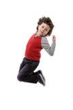 λατρευτό άλμα παιδιών Στοκ φωτογραφία με δικαίωμα ελεύθερης χρήσης