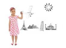 λατρευτό κορίτσι σχεδίων Στοκ φωτογραφία με δικαίωμα ελεύθερης χρήσης