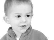 λατρευτό μαύρο αγόρι παλαιό άσπρο έτος Στοκ Εικόνα