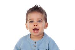 Λατρευτό μωρό εννέα μήνες Στοκ φωτογραφία με δικαίωμα ελεύθερης χρήσης