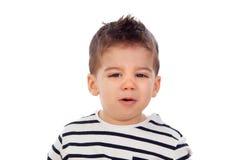 Λατρευτό μωρό εννέα μήνες Στοκ εικόνα με δικαίωμα ελεύθερης χρήσης