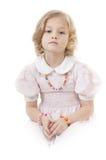 λατρευτό ξανθό κορίτσι λίγα λυπημένα Στοκ εικόνα με δικαίωμα ελεύθερης χρήσης