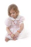 λατρευτό ξανθό κορίτσι λίγα λυπημένα Στοκ εικόνες με δικαίωμα ελεύθερης χρήσης