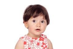 λατρευτό floral κορίτσι φορεμ Στοκ εικόνες με δικαίωμα ελεύθερης χρήσης