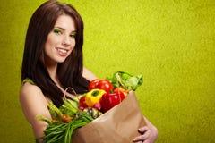 λαχανικά αγορών καρπών Στοκ Εικόνα