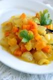 λαχανικά ατμού πιάτων φθιν&omicro Στοκ Φωτογραφία
