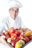 λαχανικά ατόμων μαγείρων Στοκ Εικόνες