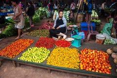 Λαχανικά για την πώληση σε μια αγορά Στοκ Εικόνες