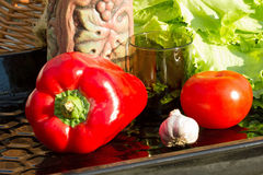Λαχανικά για τη σαλάτα Στοκ Εικόνες