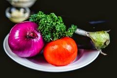 Λαχανικά για το μαγείρεμα ratatouille Στοκ φωτογραφίες με δικαίωμα ελεύθερης χρήσης