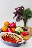 Λαχανικά για Ratatouille Στοκ Φωτογραφία