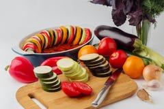 Λαχανικά για Ratatouille Στοκ εικόνα με δικαίωμα ελεύθερης χρήσης