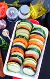 Λαχανικά για Ratatouille Στοκ Φωτογραφίες