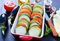 Λαχανικά για Ratatouille Στοκ φωτογραφία με δικαίωμα ελεύθερης χρήσης