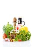 λαχανικά ελιών πετρελαί&omicro στοκ εικόνα με δικαίωμα ελεύθερης χρήσης