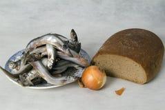 λαχανικά ζωής ψαριών ψωμιού Στοκ φωτογραφία με δικαίωμα ελεύθερης χρήσης