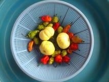 Λαχανικά, διακόσμηση και μαγειρική τέχνη Στοκ φωτογραφία με δικαίωμα ελεύθερης χρήσης