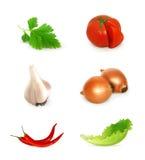 Λαχανικά καθορισμένα Στοκ Εικόνες