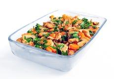 Λαχανικά και κοτόπουλο Στοκ φωτογραφία με δικαίωμα ελεύθερης χρήσης