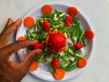 Λαχανικά και μαγειρική τέχνη Στοκ φωτογραφία με δικαίωμα ελεύθερης χρήσης