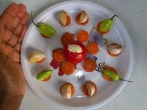 Λαχανικά και μαγειρική τέχνη Στοκ Εικόνα