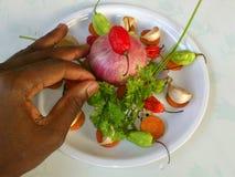 Λαχανικά και μαγειρική τέχνη Στοκ Φωτογραφία