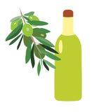 Λαχανικά και μπουκάλι με το πετρέλαιο Στοκ Εικόνα