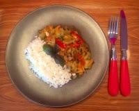 Λαχανικά και ρύζι Στοκ εικόνα με δικαίωμα ελεύθερης χρήσης