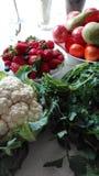 Λαχανικά, και φράουλα Στοκ εικόνα με δικαίωμα ελεύθερης χρήσης