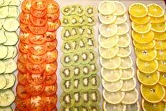 Λαχανικά και φρούτα, κινηματογράφηση σε πρώτο πλάνο Στοκ Εικόνα