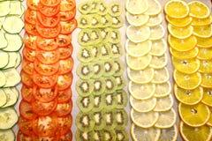 Λαχανικά και φρούτα, κινηματογράφηση σε πρώτο πλάνο Στοκ Φωτογραφία