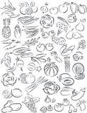 Λαχανικά και φρούτα Στοκ εικόνα με δικαίωμα ελεύθερης χρήσης
