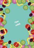 Λαχανικά και χορτάρια πλαισίων Στοκ Εικόνες