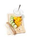Λαχανικά και ψάρια Στοκ Εικόνες