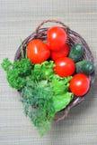 λαχανικά καλαθιών Στοκ Φωτογραφίες