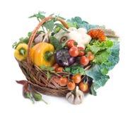 λαχανικά καλαθιών Στοκ φωτογραφία με δικαίωμα ελεύθερης χρήσης