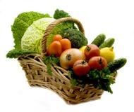 λαχανικά καλαθιών Στοκ φωτογραφίες με δικαίωμα ελεύθερης χρήσης