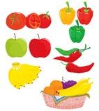 λαχανικά καρπού διανυσματική απεικόνιση