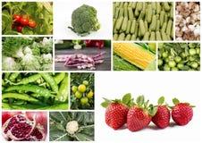 λαχανικά καρπών κολάζ Στοκ εικόνα με δικαίωμα ελεύθερης χρήσης