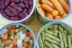 λαχανικά κασσίτερου Στοκ φωτογραφία με δικαίωμα ελεύθερης χρήσης